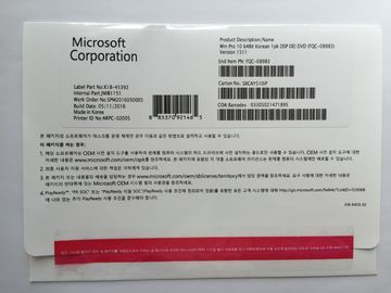 Korean Microsoft Windows 10 Pro 64 Bit , Win 10 OEM Key Valid For Lifetime